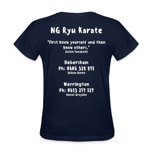 Women's Relaxed Fit T Shirt. Quote 4  White text. - Women's T-Shirt
