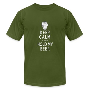 Keep Calm/Hold my Beer (American Apparel) - Men's T-Shirt by American Apparel