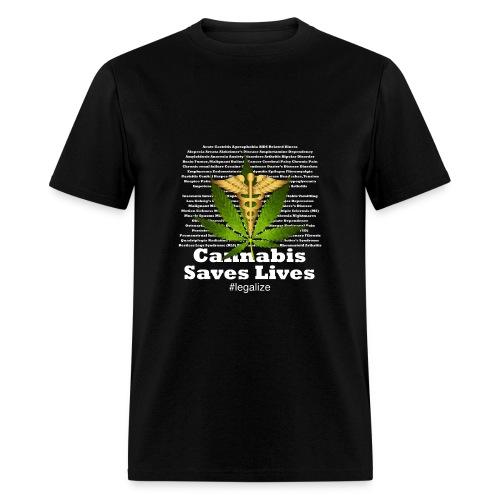 Cannabis Saves Lives - Men's T-Shirt