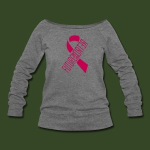 FOTR Breast Cancer Awareness off shoulder - Women's Wideneck Sweatshirt