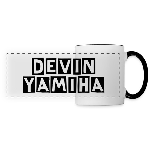 DevinYamiha Text Decal - Black - Panoramic Mug