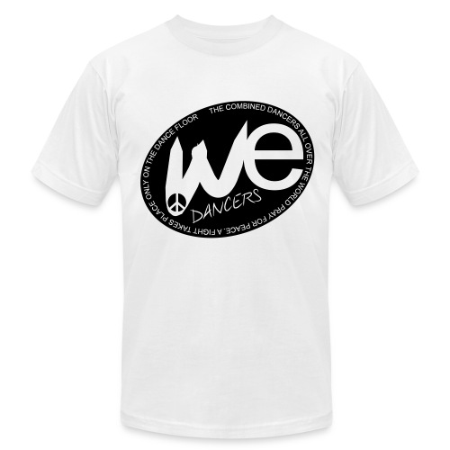 (we) Men's T-Shirt by American Apparel in Flex Print (smooth) black - Men's Fine Jersey T-Shirt