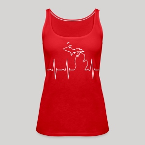 Michigan Heartbeat - Women's Premium Tank Top