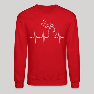 Michigan Heartbeat - Crewneck Sweatshirt
