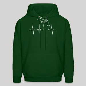 Michigan Heartbeat - Men's Hoodie