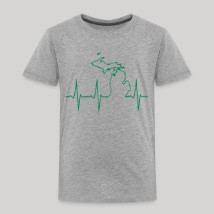 Michigan Heartbeat - Toddler Premium T-Shirt