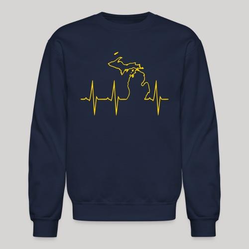 Michigan Heartbeat - Crewneck Sweatshirt