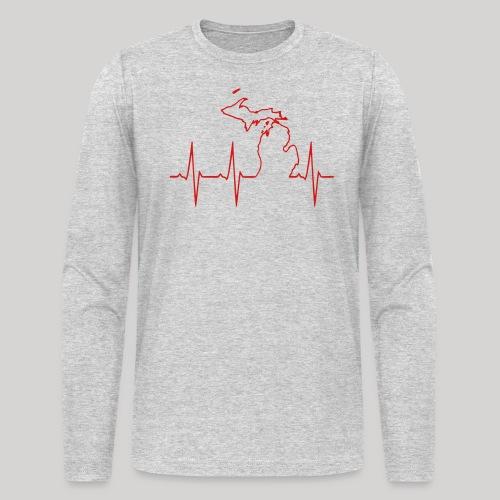 Michigan Heartbeat - Men's Long Sleeve T-Shirt by Next Level