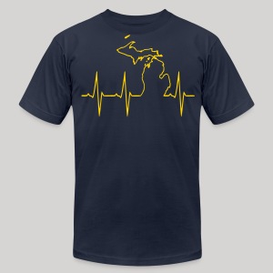 Michigan Heartbeat - Men's Fine Jersey T-Shirt