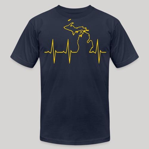Michigan Heartbeat - Men's Fine Jersey T-Shirt