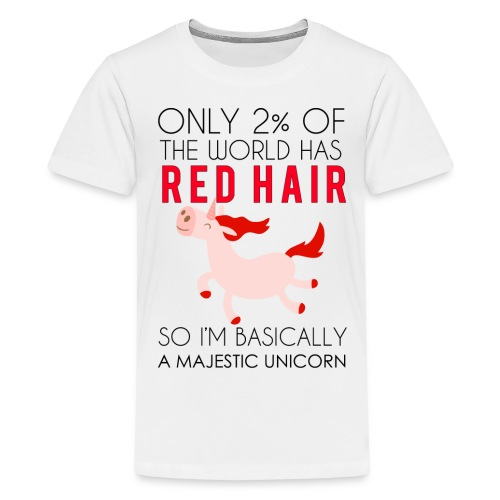 Redhead Majestic Unicorn - Kids' Premium T-Shirt