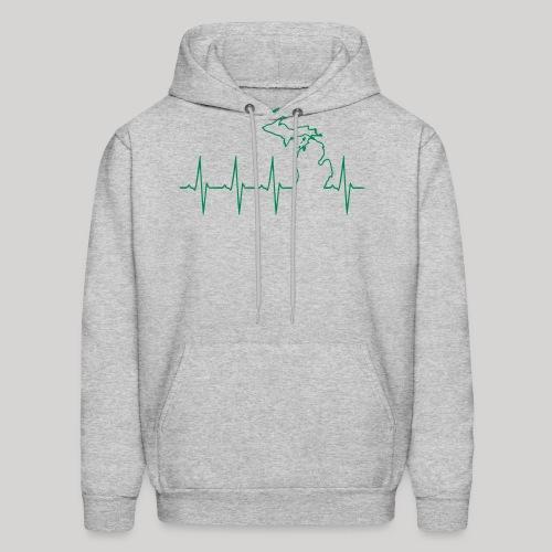 Michigan Heartbeat - Men's Hoodie