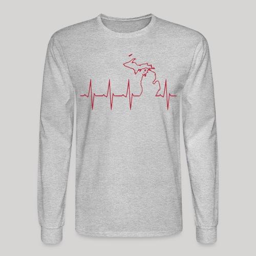Michigan Heartbeat - Men's Long Sleeve T-Shirt