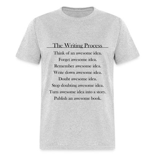 The Writing Process Grey Male T-Shirt - Men's T-Shirt