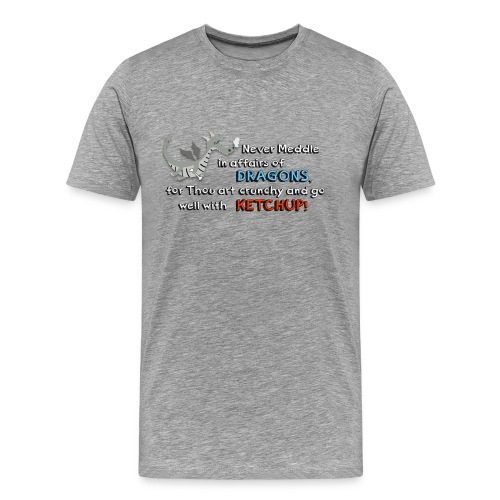 Don't meddle with Dragons - Men's Premium T-Shirt