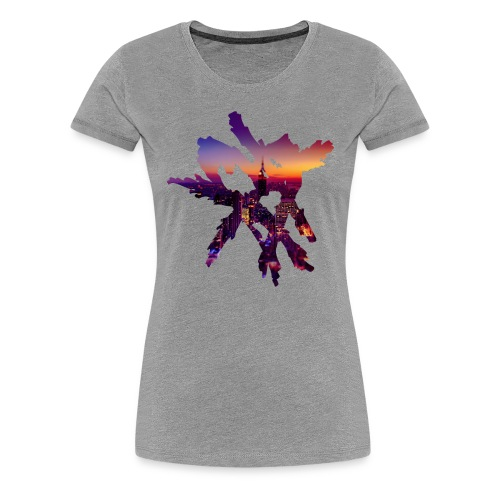 Heart Tri-blend [City Night] Women - Women's Premium T-Shirt
