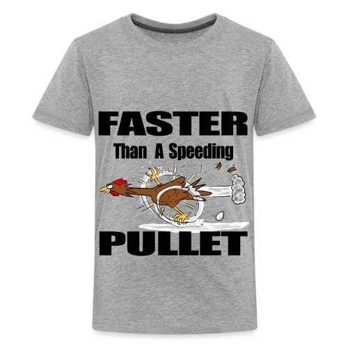 funny chicken cartoon. - Kids' Premium T-Shirt