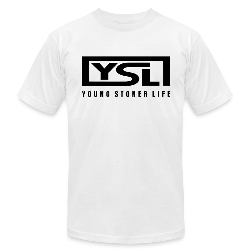 Ysl thugger white t shirt enufstyle quality street for Who sells ysl t shirts