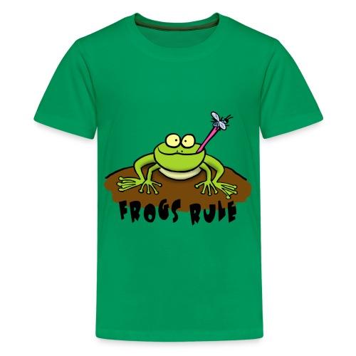 Frogs Rule cartoon Tee - Kids' Premium T-Shirt