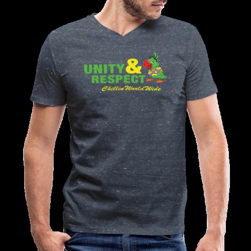 Unity & Respect Men's V-Neck T-Shirt - Men's V-Neck T-Shirt by Canvas