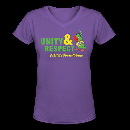 Unity & Respect Women's V-Neck T-Shirt - Women's V-Neck T-Shirt
