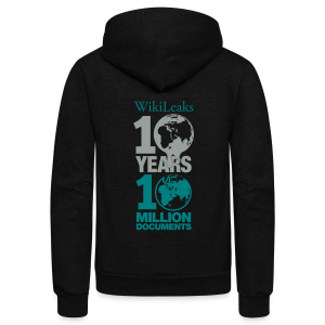 10 Years 10 Million Docs - Unisex Fleece Zip Hoodie by American Apparel
