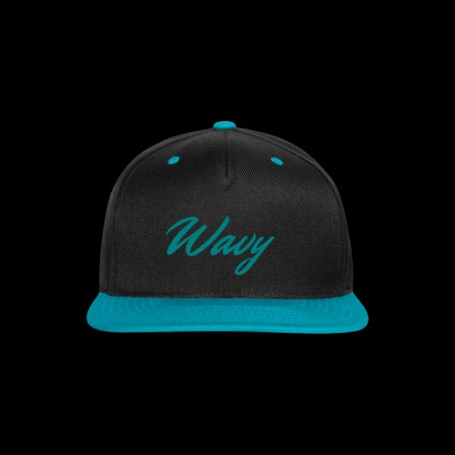 Blue Script Hat - Snap-back Baseball Cap
