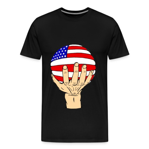American Flag Ball - Men's Premium T-Shirt