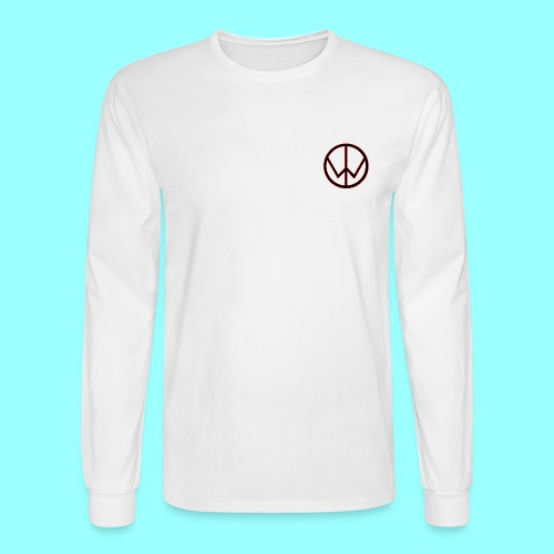 TheWizardTimGaming Long Sleeve with Star Logo (White) - Men's Long Sleeve T-Shirt
