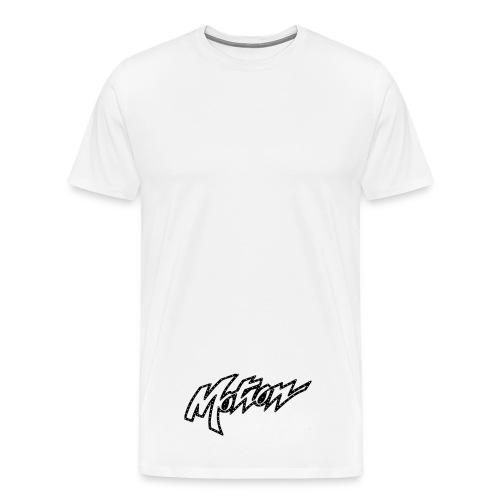 Motion White T-Shirt (Motion Logo Below) - Men's Premium T-Shirt