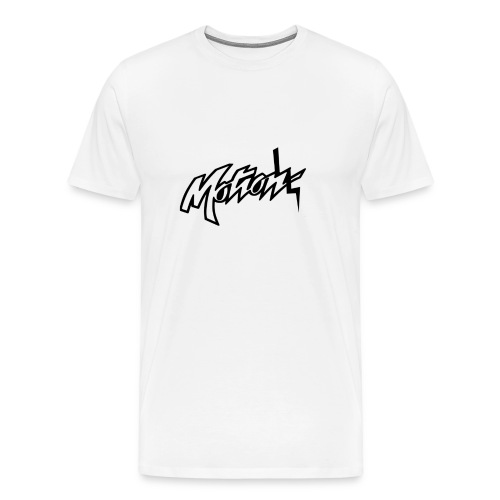 Motion White T-Shirt (Motion Logo Twist) - Men's Premium T-Shirt