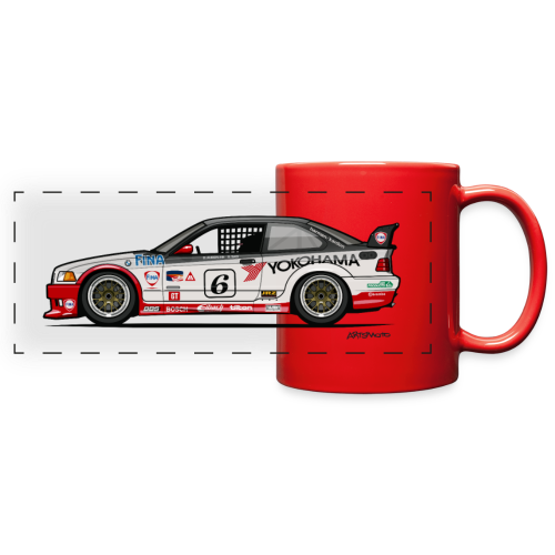 E36 GTS-2 PTG Race Car - Full Color Panoramic Mug