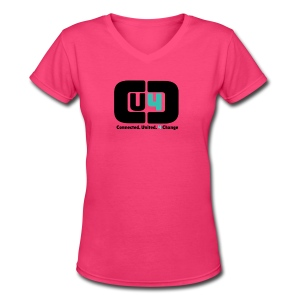 Breast Cancer CU4C V-Neck - Women's V-Neck T-Shirt