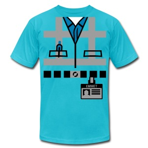 Emmet's Safety Vest and Nametag - Men's T-Shirt by American Apparel
