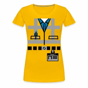 Emmet's Safety Vest and Nametag - Women's Premium T-Shirt