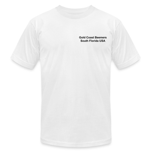 GCB Short Sleeve White T-Shirt - Men's Fine Jersey T-Shirt