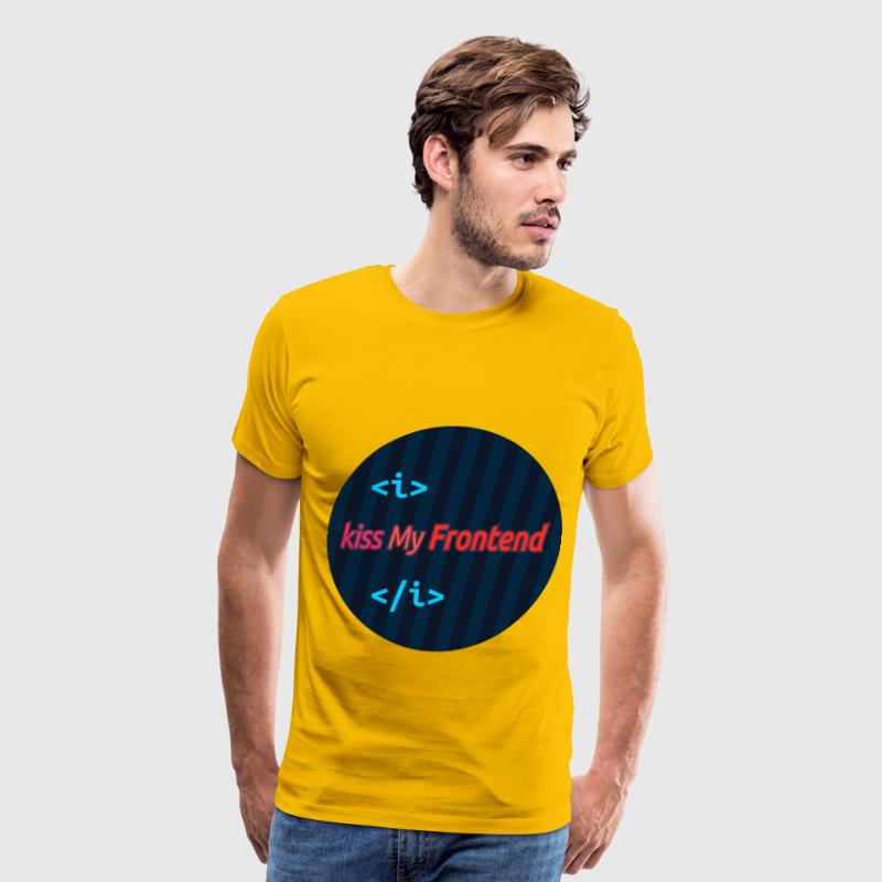 Round badge kiss My Frontend - Men's Premium T-Shirt
