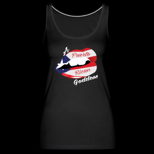 Puerto Rican Goddess (White) - Women's Premium Tank Top