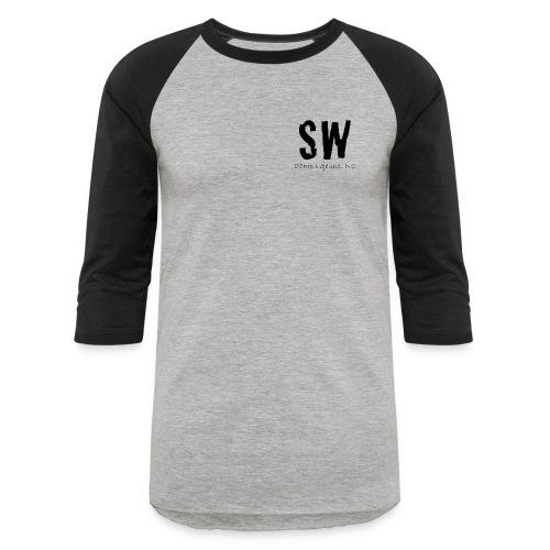 Women's Black and Grey Baseball Tee with Long Quote - Baseball T-Shirt