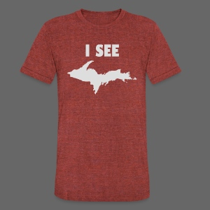 I See U.P. - Unisex Tri-Blend T-Shirt by American Apparel