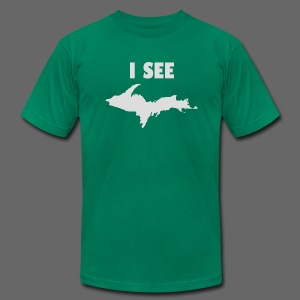 I See U.P. - Men's T-Shirt by American Apparel