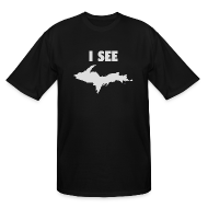 T-Shirts ~ Men's Tall T-Shirt ~ I See U.P.