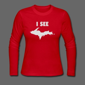 I See U.P. - Women's Long Sleeve Jersey T-Shirt