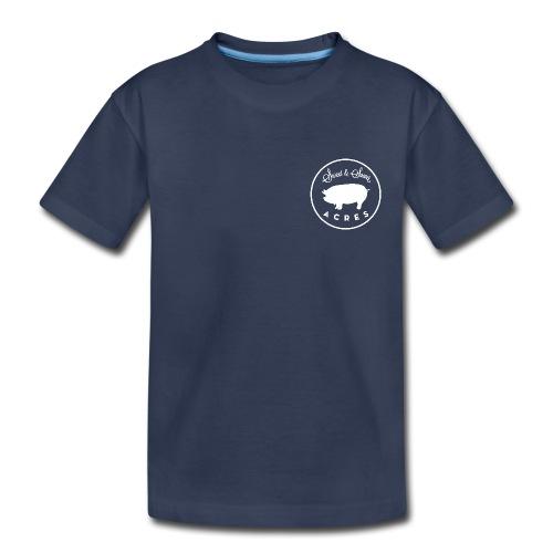 Navy Youth Premium Tee with Sweet & Sower Logo - Kids' Premium T-Shirt