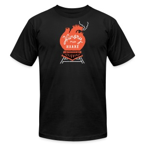 Hungry For Heart Shirt - Men's T-Shirt by American Apparel
