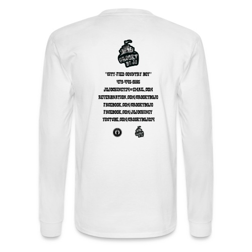 Crooky BoJo White Longsleeve - Men's Long Sleeve T-Shirt
