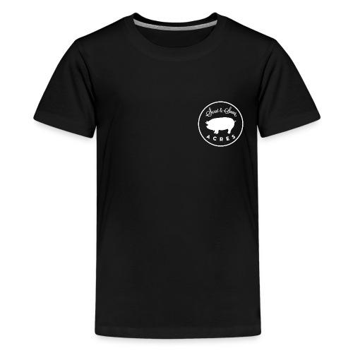 Black Youth Premium Tee with Sweet & Sower Logo - Kids' Premium T-Shirt