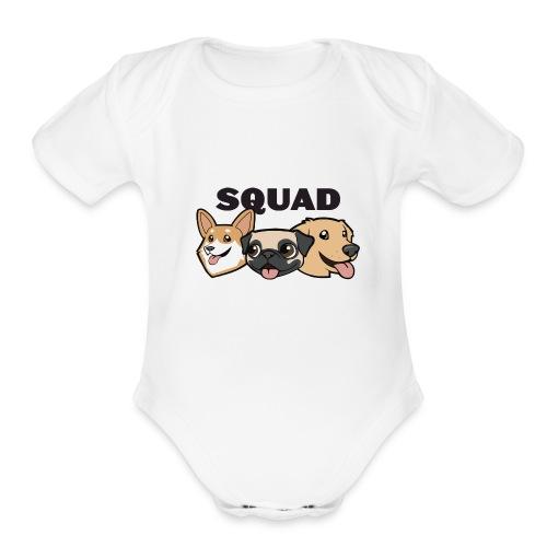 Baby Dog Squad Short Sleeve One Piece - Organic Short Sleeve Baby Bodysuit