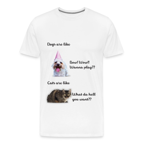 Dog and Cat 1 - Men's Premium T-Shirt