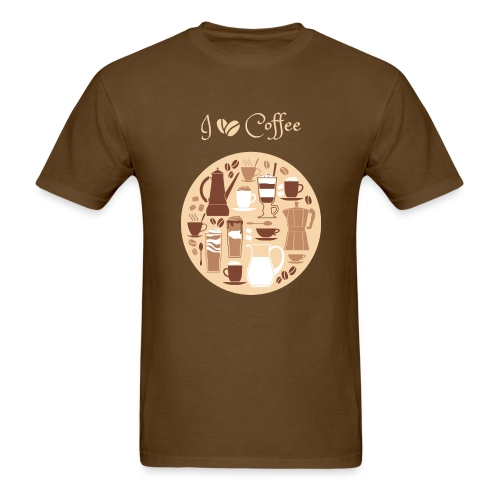I love coffee T Shirt - Men's T-Shirt